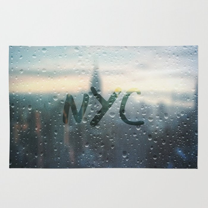 Rainy Day in NYC Rug / 4' x 6'