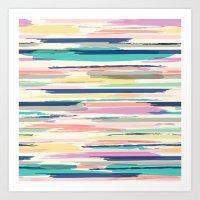 Painted_Stripe Art Print
