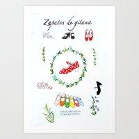 Zapatos De Gitana Art Print