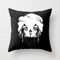 Cat Skulls Throw Pillow