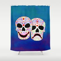 Comedy-Tragedy Colorful … Shower Curtain