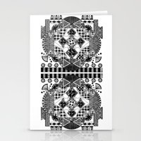 symmetry and a little bit of assymetry Stationery Cards