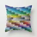 Halftone Color Chart Throw Pillow