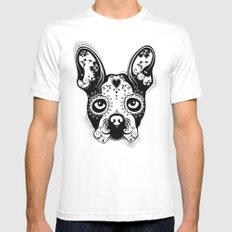 B.Terrier  Mens Fitted Tee SMALL White