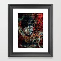 Poe-try Framed Art Print