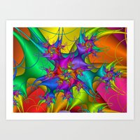 Explosion In A Paint Fac… Art Print