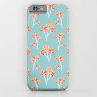 iPhone & iPod Case featuring anemone flowers :: sea mist by Melanie Cardenas