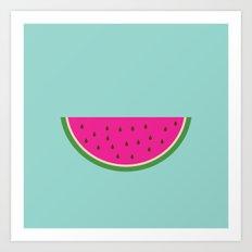 Watermelon print Art Print