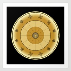 Fleuron Composition No. 113 Art Print