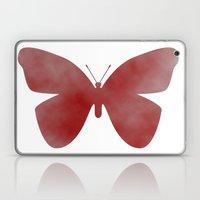 Red Butterfly Laptop & iPad Skin