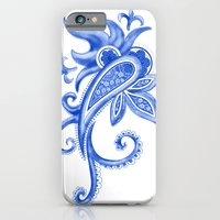iPhone & iPod Case featuring Paisley: Blue China Combo by Eileen Paulino