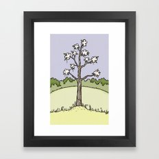 White Flower Tree Framed Art Print