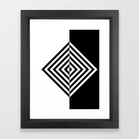 Black And White Concentr… Framed Art Print