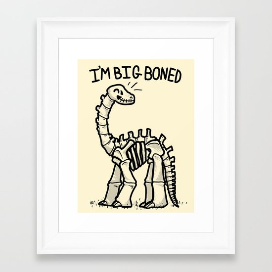 Big Boned Framed Art Print