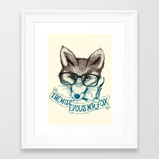 The Mischievous Mr. Fox Framed Art Print