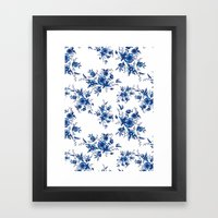 FOLK FLOWERS Framed Art Print