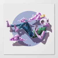 Chilling Among The Clouds Canvas Print