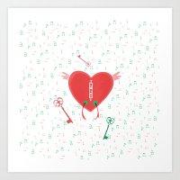 Keys Of Heart Art Print
