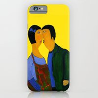 couple iPhone & iPod Cases featuring couple by agnes Trachet