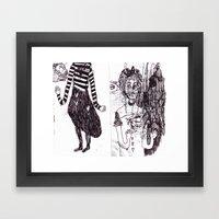 DOODLE Framed Art Print