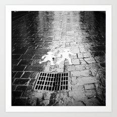 Crosswalk, Brittany, France Art Print