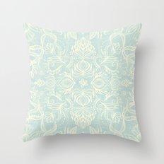 Pale Jade Tattoo - a pattern Throw Pillow