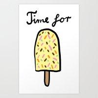 Popsicle Art Print
