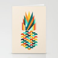 Groovy Pineapple Stationery Cards