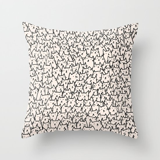 A Lot of Cats Throw Pillow