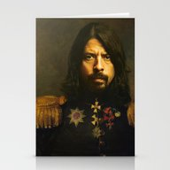 Stationery Cards featuring Dave Grohl - Replaceface by Replaceface