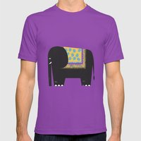 Elephant Mens Fitted Tee Ultraviolet SMALL