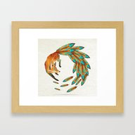 Fox Cercle Framed Art Print