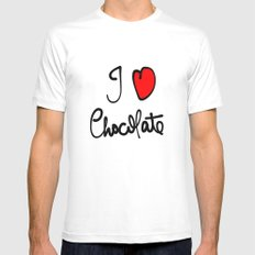 i love chocolate Mens Fitted Tee White SMALL