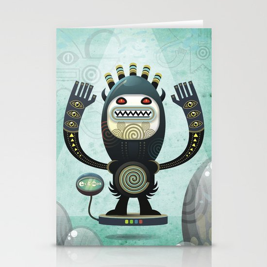 Alien Guard Stationery Card