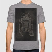 R2D2 Mens Fitted Tee Athletic Grey SMALL
