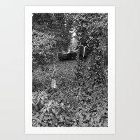 Alice and the queen in grey Art Print
