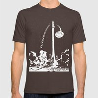 Space shuttle Mens Fitted Tee Brown SMALL