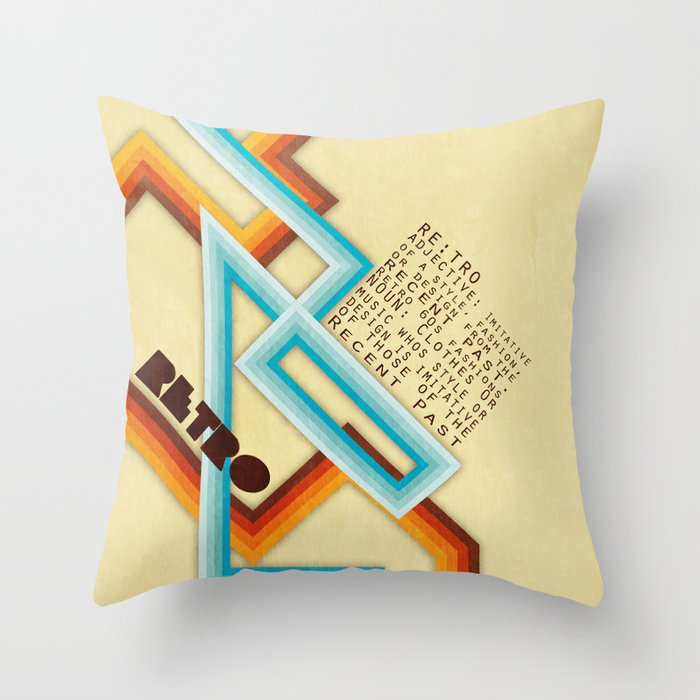 Throw Pillow Meaning : Retro Meaning Throw Pillow by Digi Treats 2 Society6