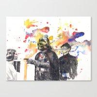 Darth Vader Pointing Lei… Canvas Print