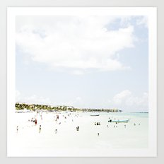 White Waves Beach Art Print