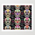 Happy calaveras Art Print