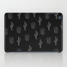 Cactus Pattern Black iPad Case