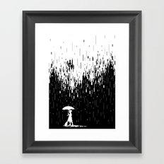 Pixel Rain Framed Art Print