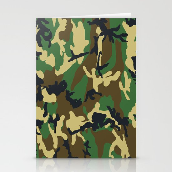 Military - Camouflage Stationery Card