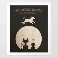 Hey Diddle Diddle. Child… Art Print