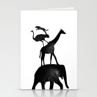 Animal Stack Stationery Cards