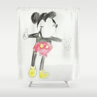 Childhood Drawings (Mickey) Shower Curtain
