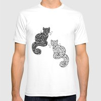 Black Cat White Cat Mens Fitted Tee White SMALL