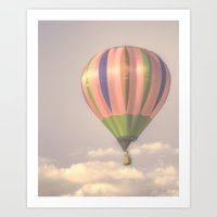 Magical pink balloon Art Print