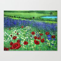 Blooming field Canvas Print